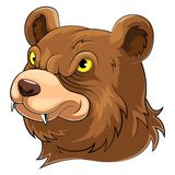 Mascotte principale d'ours illustration stock