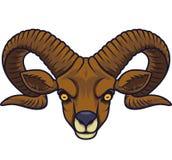 Mascotte principale de chèvre fâchée illustration de vecteur