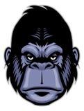 Mascotte principale de gorille illustration de vecteur