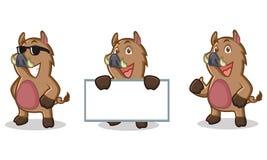 Mascotte sauvage de porc de Brown heureuse Photographie stock libre de droits