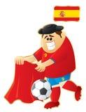 Mascotte Spagna di gioco del calcio Fotografia Stock Libera da Diritti
