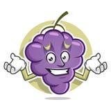 Mascotte spiacente ritenente dell'uva Vettore del carattere dell'uva uva Fotografie Stock Libere da Diritti