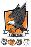 Mascotte sportive d'aigle  illustration stock