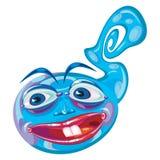 Mascotte straniera blu del fumetto della creatura Immagini Stock