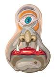 mascotte straniera del fumetto della creatura dell'Un-occhio Immagine Stock