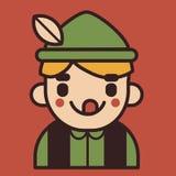 Mascotte tedesca iconica del ragazzo Immagine Stock