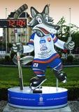 Mascotte ufficiale del campionato 2011 del mondo del hokey Fotografia Stock Libera da Diritti