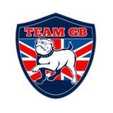 Mascotte van de buldogGroot-Brittannië van het team GB de Engelse stock illustratie