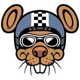 Mascotte van de muis de hoofdruiter Royalty-vrije Stock Fotografie