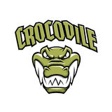 Mascotte verte de tête de crocodile illustration de vecteur