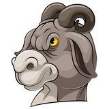 Mascottehoofd van een geit vector illustratie