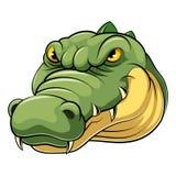 Mascottehoofd van een krokodil stock illustratie