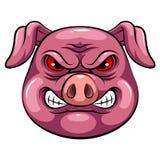 Mascottehoofd van een varken stock illustratie