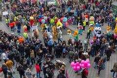 Mascottes Défilé-Nuremberg 2016 de € de Toon Walkâ « Images stock