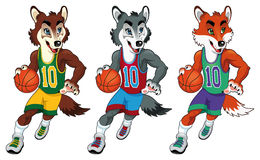 Mascottes de basket-ball. Images libres de droits