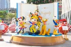 Mascottes de caractère de Disneyland de Mickey Mouse et des amis Image libre de droits