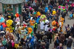 "Mascottes parade-Nuremberg 2016 van Toon Walkâ € de "" royalty-vrije stock foto"