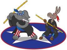 Mascottes politiques d'arts martiaux Photographie stock libre de droits