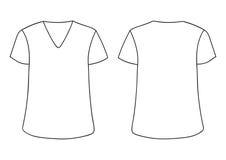 ` Masculin blanc s, T-shirt de V-encolure du ` s de femme Les arrières avant raillent  illustration libre de droits