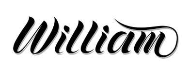 ` Masculin de William de ` de nom, main écrite dans le style moderne de lettrage illustration libre de droits