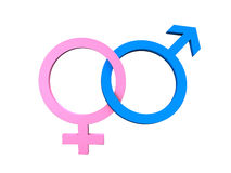Masculine Feminine Symbols Royalty Free Stock Photos