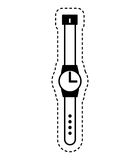 Masculine hand watch icon. Illustration design Stock Photography