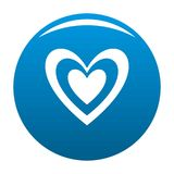 Masculine heart icon vector blue. Masculine heart icon. Simple illustration of masculine heart vector icon for any design blue Stock Photography