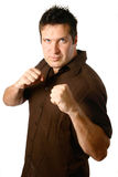 Masculine man in boxing stance Stock Image