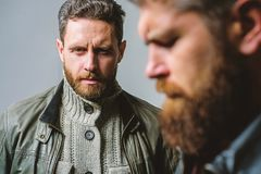 Masculine men with well groomed beard. Masculinity and brutal appearance. Male hair care tips. Barbershop concept. Men. Handsome with beard and mustache facial stock images