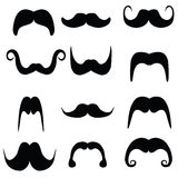Masculine mustache Stock Photography