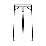 Masculine pants clothes icon Royalty Free Stock Photo