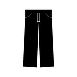 Masculine pants clothes icon Stock Photography