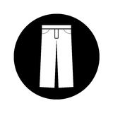 Masculine pants clothes icon Stock Image
