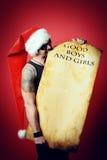 Masculine santa Stock Photography