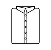 Masculine shirt clothes icon Royalty Free Stock Photos