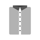 Masculine shirt clothes icon Stock Photography