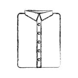 Masculine shirt clothes icon Royalty Free Stock Images