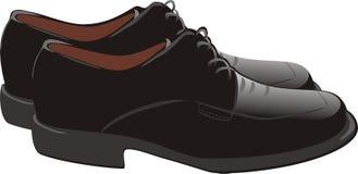 Masculine shoes. Masculine modern shoes. Vector illustration Stock Image