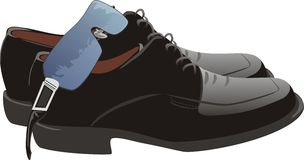 Masculine shoes and glasses. Vector illustration Stock Images