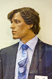 Masculine shop window mannequin. With suit, shirt and tie Stock Image