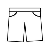 Masculine short clothes icon Stock Photo