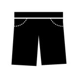 Masculine short clothes icon Royalty Free Stock Image