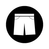 Masculine short clothes icon Stock Image