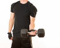 Masculine Teen Exercising and getting fit Royalty Free Stock Images