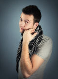 Masculinity. Fashion shot of a young man wearing casual clothing Stock Images