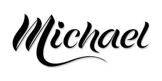 ` Masculino de Michael do ` do nome, mão escrita no estilo moderno da rotulação ilustração stock