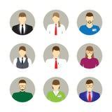 Masculino e fêmea enfrenta avatars, ícones Ilustração do JPG + do vetor Foto de Stock