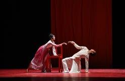 """ masculino y femenino de Lanfang†del drama""""Mei de la confrontación-danza Imagen de archivo"""