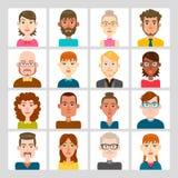 16 masculinos y sistema femenino del avatar Imágenes de archivo libres de regalías