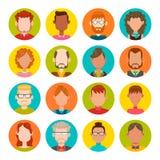 16 masculinos y sistema femenino del avatar Imagen de archivo libre de regalías
